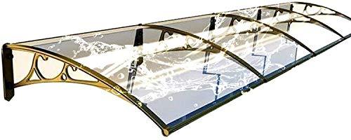 HACSYP Marquesina para Puerta de casa, Puerta Capota Exterior | Mute Prueba de Lluvia de 2,5 mm de policarbonato Clear Panel Porche Refugio | for el Jardín Porche Ventana Garaje