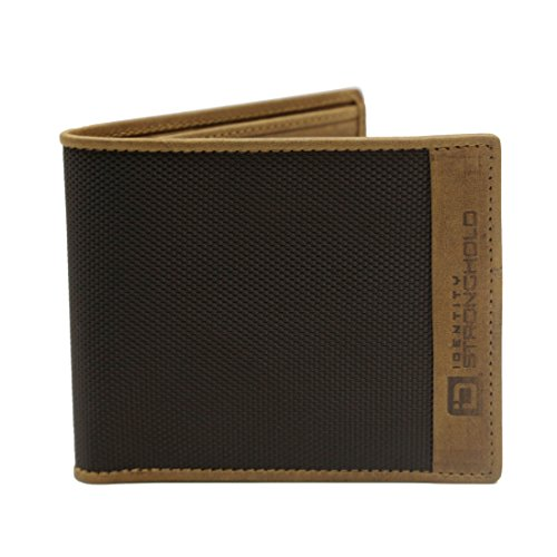 Slim Bifold Wallet for Men - RFID Blocking Wallet - 7 Slots Nylon and Leather