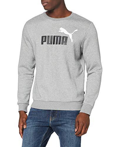 PUMA ESS 2 Col Crew Sweat FL Big Logo Sudadera, Hombre, Negro, L
