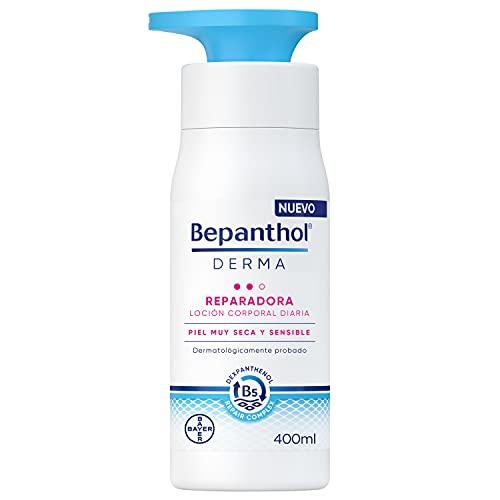 BEPANTHOL Derma Reparadora Loción Corporal, Hidratación Inmediata Y Duradera Para La Piel Muy Seca Y Sensible, Uso Diario, 400 Mililitro