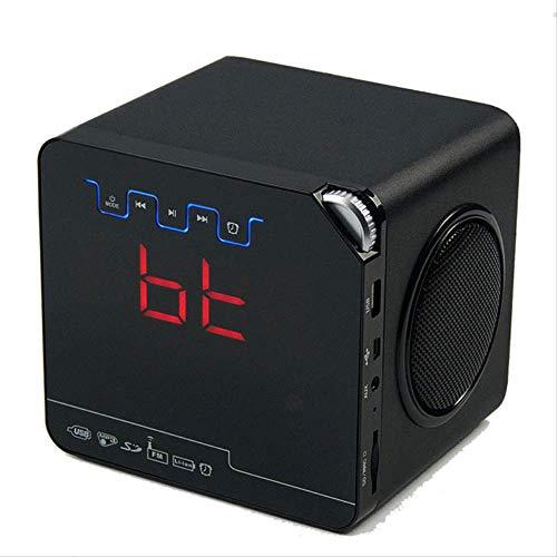 Duyifan Telefoon Afstandsbediening Alarm Klok Houten Bluetooth Luidspreker Draadloze Mp3 FM Radio Desktop Klok Home Office Decor High-end Gift