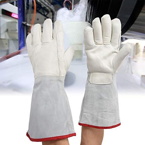 lahomie Guantes resistentes a los álcalis, guantes Cryo de 40 cm criogénicos largos con tratamiento de nitrógeno líquido para tratamiento con nitrógeno líquido