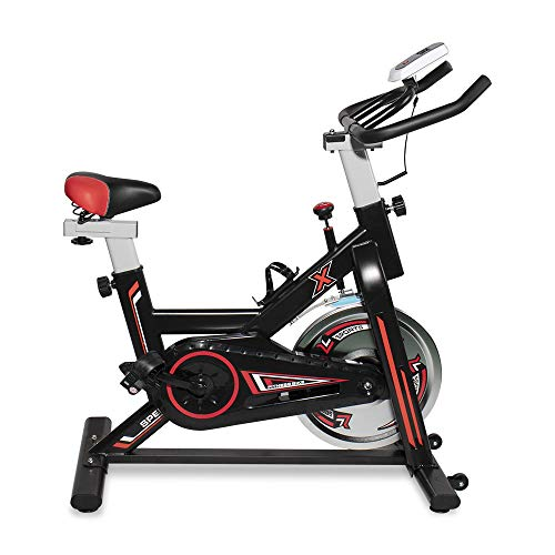 DKLGG Exercise Bike Indoor Cycling Bike Stationary Bikes Cardio Workout Machine Upright Bike Belt Drive Adapted to Challenging High Range of Resistance Levels Home Workout Gym Fitness