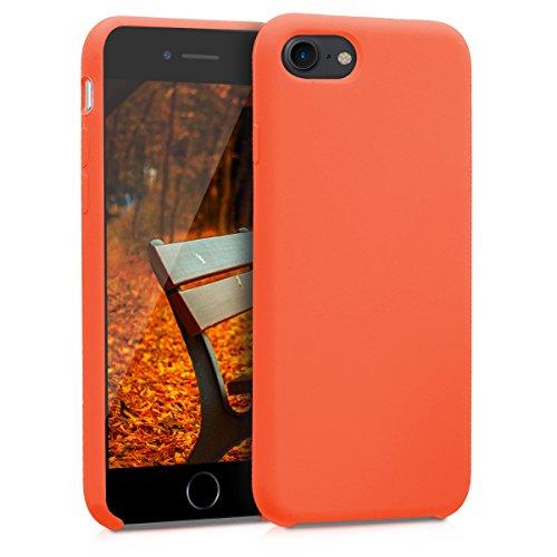 kwmobile Hülle kompatibel mit Apple iPhone 7/8 / SE (2020) - Handyhülle gummiert - Handy Hülle in Neon Orange