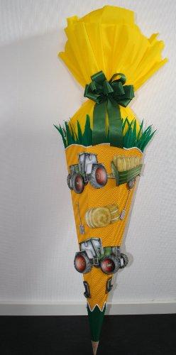 Bastelset Schultüte Zuckertüte Bauernhof Traktor mit 3-D Motiven