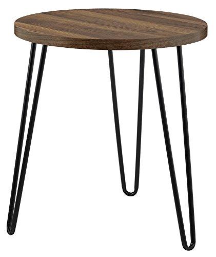 Ameriwood Owen Retro End Table, laminated particleboard, Walnut, 55.5cm (H) (W) x 50.1cm (D)