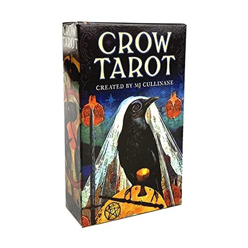 ACCLD Cartas del Tarot Tarot Cuervo Cartas del Tarot Versión de la baraja Oracle Divination Fate Juego Deck Mesa Juegos de Mesa Naipes