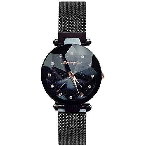 RORIOS Armbanduhren für Damen Mesh Armbanduhr Simulierter Diamant Dail Women Watches Damen Uhr