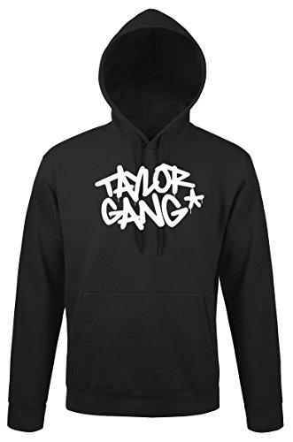 TRVPPY Herren Hoodie Kapuzenpullover Modell Taylor Gang Wiz Khalifa, Schwarz, XL