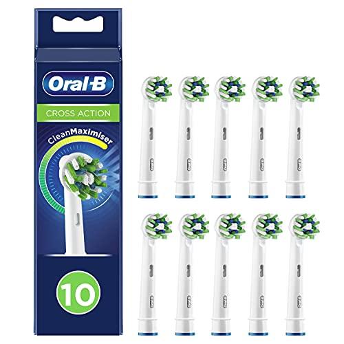 Oral-B CrossAction Testine di Ricambio per Spazzolino Elettrico con Tecnologia CleanMaximiser, Confezione da 10 Pezzi