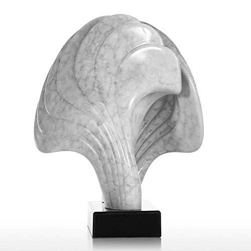 Wangxiaoxia Resina De Estatuilla Concha con Base De Mármol Líneas Retorcidas Textura De Mármol Sensación De Superficie Figura Abstracta Estatuas Inicio
