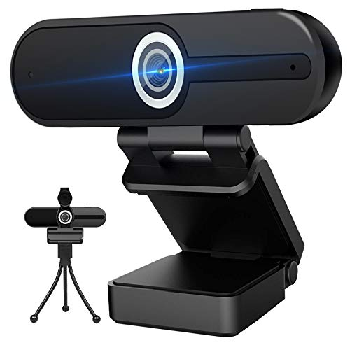 4K Webcam with Microphone - Computer Camera 8MP - USB Webcam 1080P for Video Calling, Conference, Streaming, Webcam with Privacy Cover and Mini Tripod - Newest Version