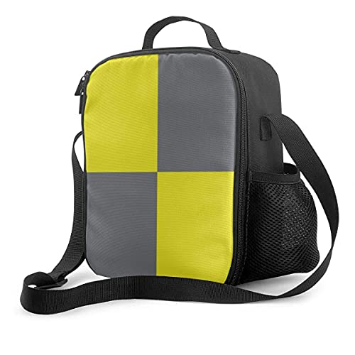 Isolierte Lunchtasche, internationale Flagge, Code, Kissen, Buchstabe L (Lima), Kühltasche, tragbar, Lunchbox, Tasche für Erwachsene & Kinder, für Schule, Büro, Outdoor