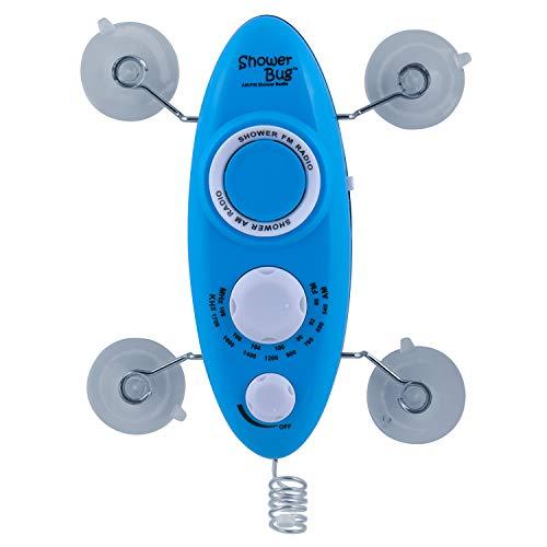 Zadro Water Resistant AM/FM Showerbug Shower Radio