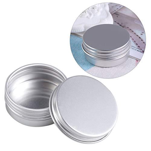 MILISTEN Aluminium Zinnglas Leer Nachfüllbare Behälter 15Ml Kosmetikdose mit Schraubdeckel Runder Zinnbehälter für Lidschatten Lippenbalsam Gewürze Kerzen Herstellung Lieferungen