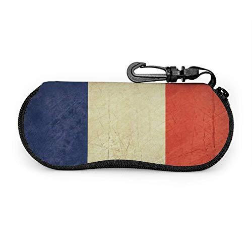 Funda blanda para gafas de sol con cremallera, ultraligera, bandera del Estado soberano grunge del país de Francia
