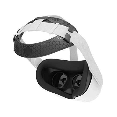 Cubierta Facial de Silicona VR para Auriculares Oculus Quest 2 VR Reemplazo Impermeable a Prueba de Sudor Almohadillas Faciales Accesorios de Oculus Quest 2