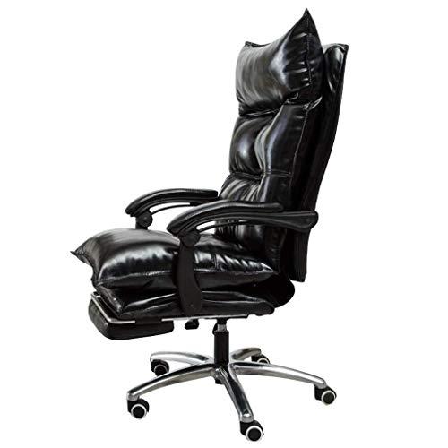 XKKD stoel bureaustoel PU-lederen bekleding bureaustoel 170 ° leuning design met verlengde beensteun en verstelbare hoogte (10 cm)