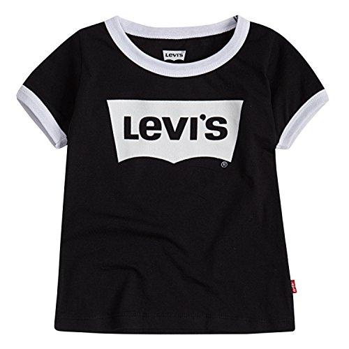 Levi's Girls Classic Batwing T-Shirt, Black Ringer, L