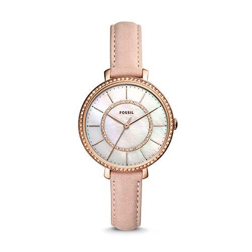 Fossil Damen Analog Quarz Uhr mit Leder Armband ES4455