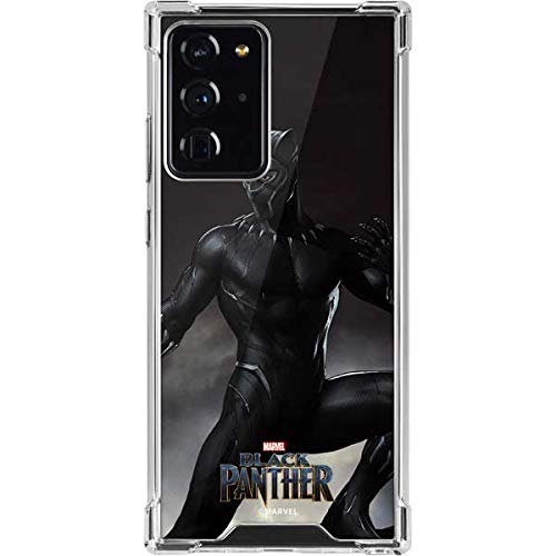 Skinit Clear Phone Case Compatible with Galaxy Note 20 Ultra 5G - Officially Licensed Marvel Black Panther Ready for Battle Design