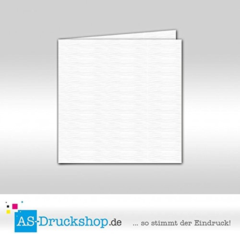 Faltkarte - Hochweiß - mit Strukur 100 Stück Quadratisch 155 x 155 mm B07951JHVZ  | Der neueste Stil