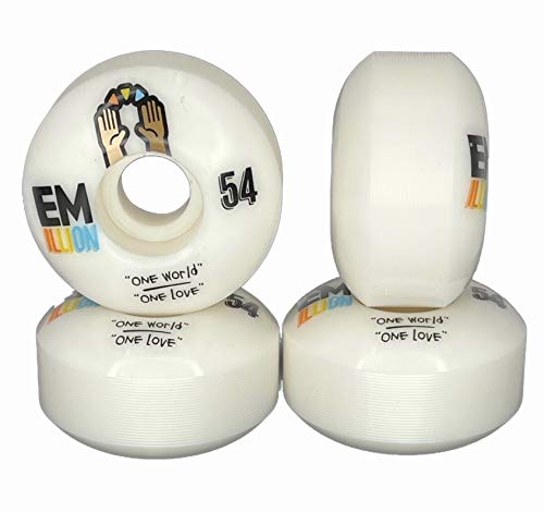 Emillion Skateboard Rollen One World 100A 54mm (4er Set)