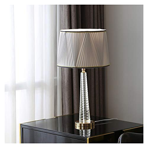 Lámpara de Mesa Shade Lámpara de mesa moderna del remolino estriado gris...