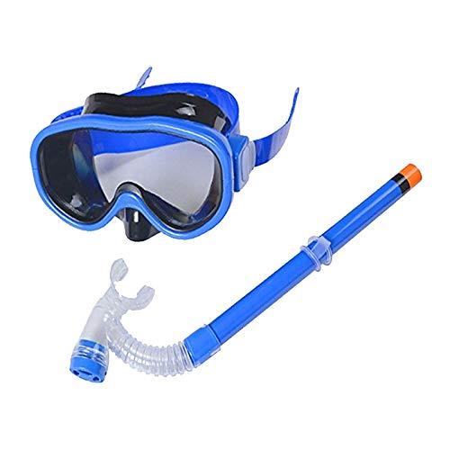 Smolisi Kids Youth Water Sports Silicone Scuba Swimming Swim Diving Mask Snorkel Glasses Anti Fog Goggles Set(Blue)