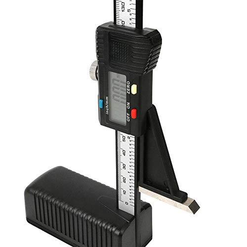 Medidor digital de altura, escala digital de plástico magnético lineal vertical, mini herramientas de medición, para bricolaje madera calibre de trabajo, negro