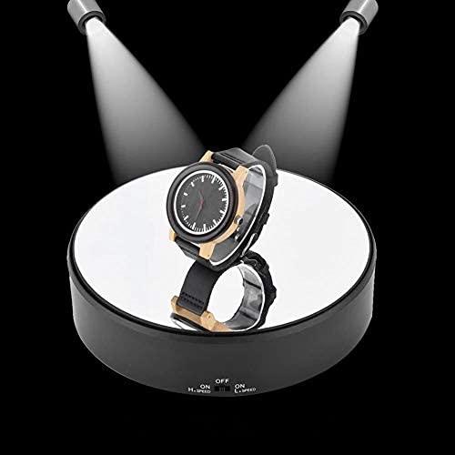 Espositore Rotante, Piattaforma Professionale Girevole di 360 Gradi Portante 1,5 kg con Diametro di 18cm e velocità di Rotazione Regolabile per Fare Foto, Video, Mostra Prodotto