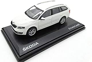ORIGINALE Skoda Superb 3 Combi modello di auto 1:43 Moon Bianco Metallizzato