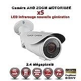 Europ-Camera Tube AHD CVI TVI Zoom Motorisée X5 Anti-Vandal Full HD 1080P 2.4MP Capteur 1/2.7' Sony IMX323 IR 40m étanche réf: EC-AHDC40FHDAZ