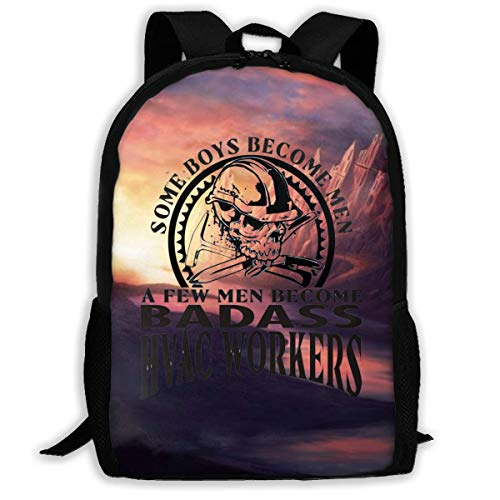 XCNGG A Few Men Become HVAC Workers Large Capacity Travel Computer Backpack, Adult Printed Backpack, Anti Splash Student School Backpack