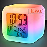 Jeval Color 7 Changing Color Clock Alarmist Clock The Ideal Gift for Children