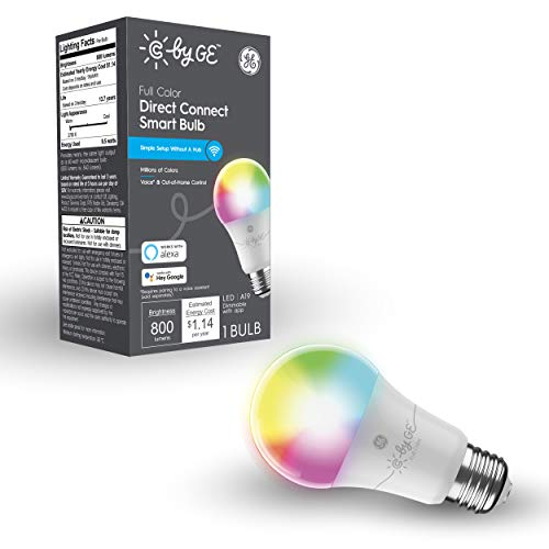 C by GE Full Color Direct Connect Smart LED Bulb (1 A19...