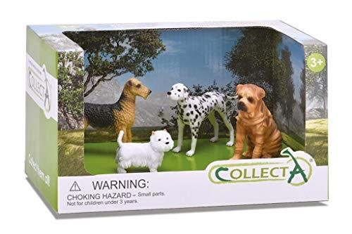 CollectA Katzen und Hunde Figur offen verpackt Set (4-teilig), Set 3