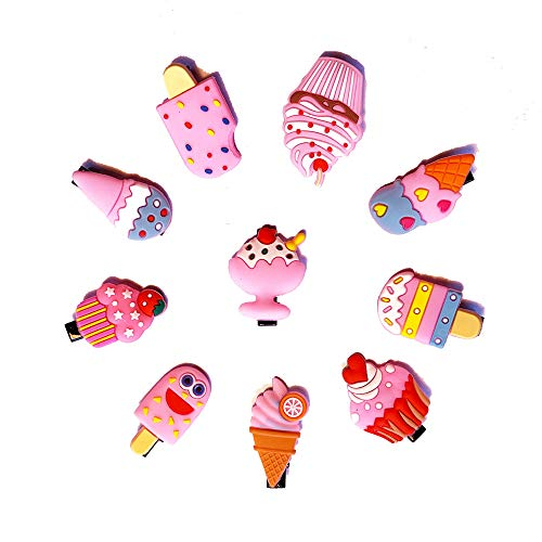 Assorted Adorable Hair Clips Dessert Themed