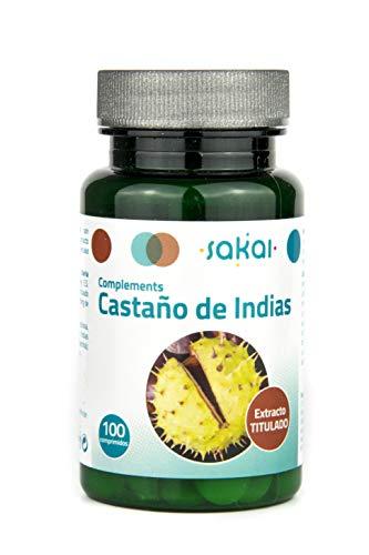 Sakai - Castaño de Indias - Piernas Ligeras- Mejora la circulación - Previene las varices, los edemas y la retención de líquidos - 100 comprimidos
