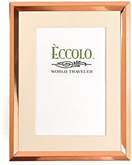 4 x 6-Inch Eccolo World Traveler Copper Photo Frame Beveled Matted
