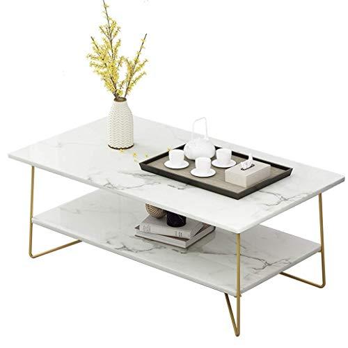 Tavolino da Salotto Moderno, Tavolino da Salotto, Tavolino da tè Piccolo, Tavolino in Ferro battuto, Forma Geometrica, Tavolini Estraibili a 3 Strati (Colore: A, Dimensioni: 100x48cm)