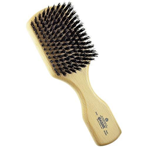 Kent OG2 Beechwood Hair Brush and Facial Brush for Beard Care - Exfoliating Natural Boar Bristle Brush for Mens Grooming, Hair Care, and Beard Straightener for Men's Skin Care