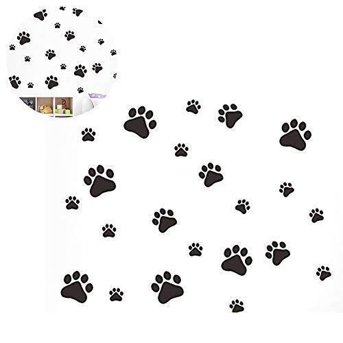 Hilai Póster Divertido de Huellas de Perro y Gato habitación de niños, Pegatinas de Pared, Armario, Puerta, Plato de Alimentos, Cuenco de Cocina, Coche, decoración