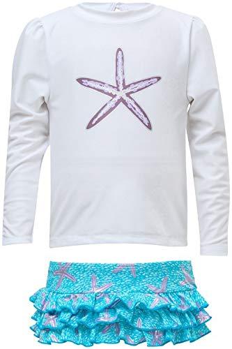Snapper Rock Oceanstar Maillot de Bain pour Fille L Blanc