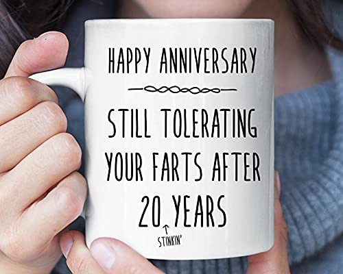 Still Tolerating Your Farts After 20 Stinking Years Funny Mug, 20th Wedding, Gifts For Husband-, Perfect Birthday Christmas Or Wedding Anniversary, Cool Husband Gift Idea From Wife, Birthday