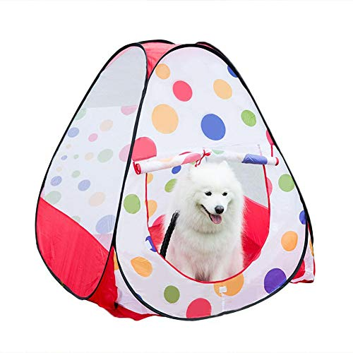 GSDJU Pet Fence Large Space Cat Dog Tent Foldable Pet Nest Game Toy Room Indoor and Outdoor Available Triangle Type