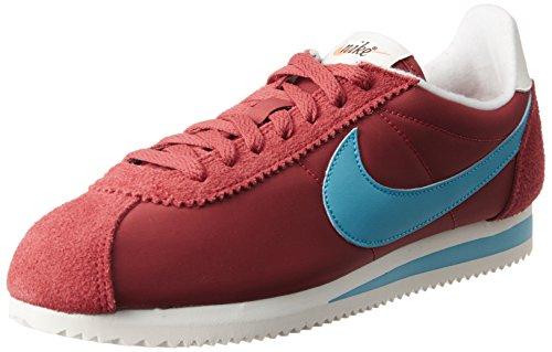 Nike Cortez Nylon Prem, Zapatillas para Hombre, Rojo (Varsity Red/Chlorine Blue/Sail), 43...