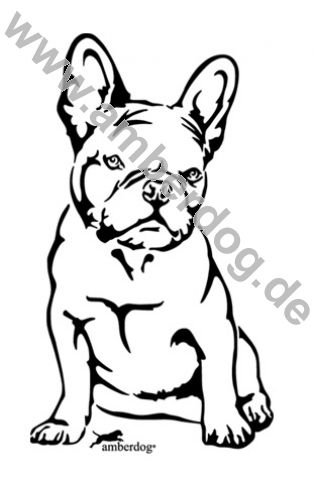 amberdog Französische Bulldogge Wandtattoo Art.Nr.T0122 Größe 30x20cm
