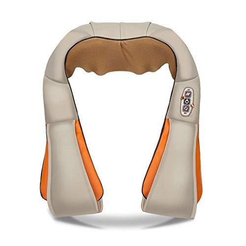 Nackenmassagegerät mit Wärmefunktion Elektrische Massagegerät für Schulter Nacken Rücken Shiatsu 3D-Rotation Massagekissen Massager Geschwindigkeiten Muskel Schmerzlinderung zu Hause Büro und Auto