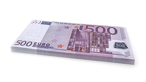 Cashbricks® 75 x €500 Euro Dinero de Juguete (ampliados al 125% del tamaño Original)